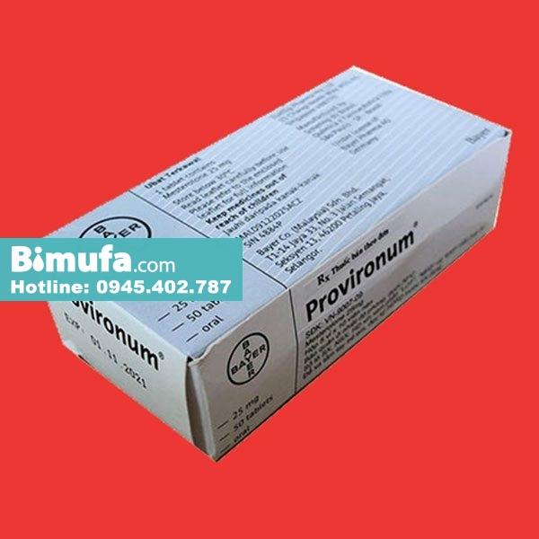 Thuốc Provironum: Công dụng, liều dùng, lưu ý tác dụng phụ