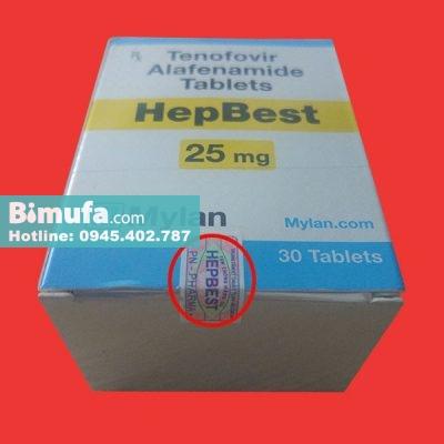 Sản phẩm Hepbest hàng thật có tem chống hàng giả