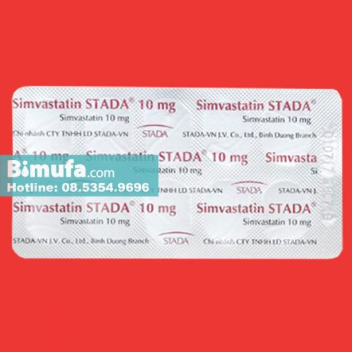 Thuốc Simvastatin STADA 10mg