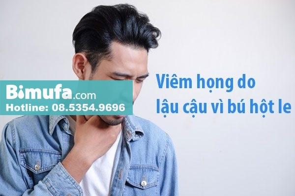Nam giới có thể bị lây một số bệnh qua đường tình dục như viêm họng do lậu cầu