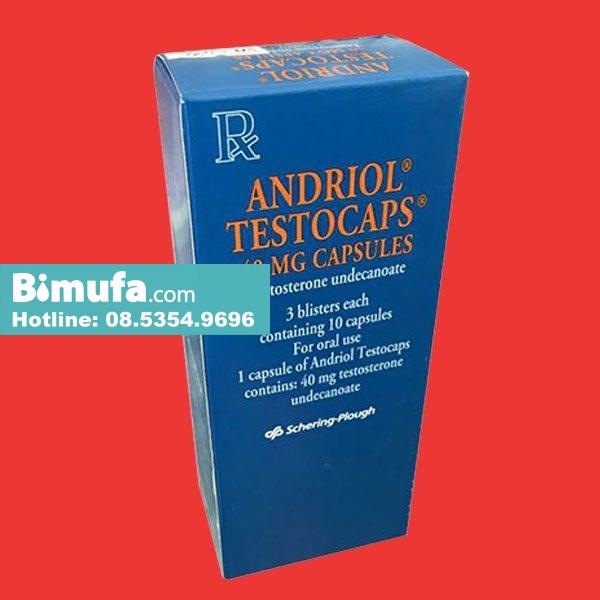 Thuốc Andriol testocaps 40 mg