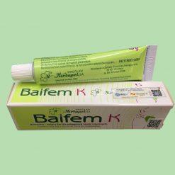 Hộp và tuýp của Baifem K 15g