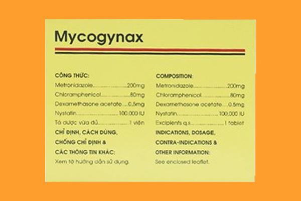 Thành phần in trên vỏ hộp Mycogynax