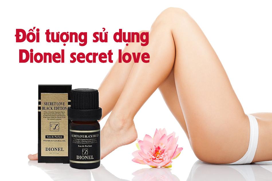Đối tượng sử dụng nước hoa vùng kín Dionel secret love
