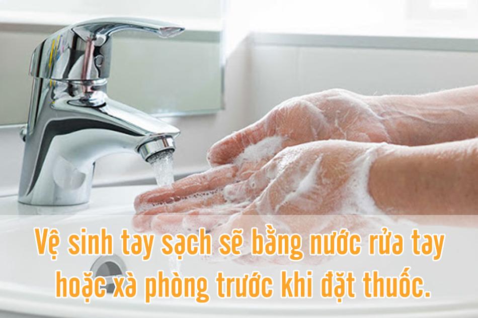 Vệ sinh tay sạch sẽ