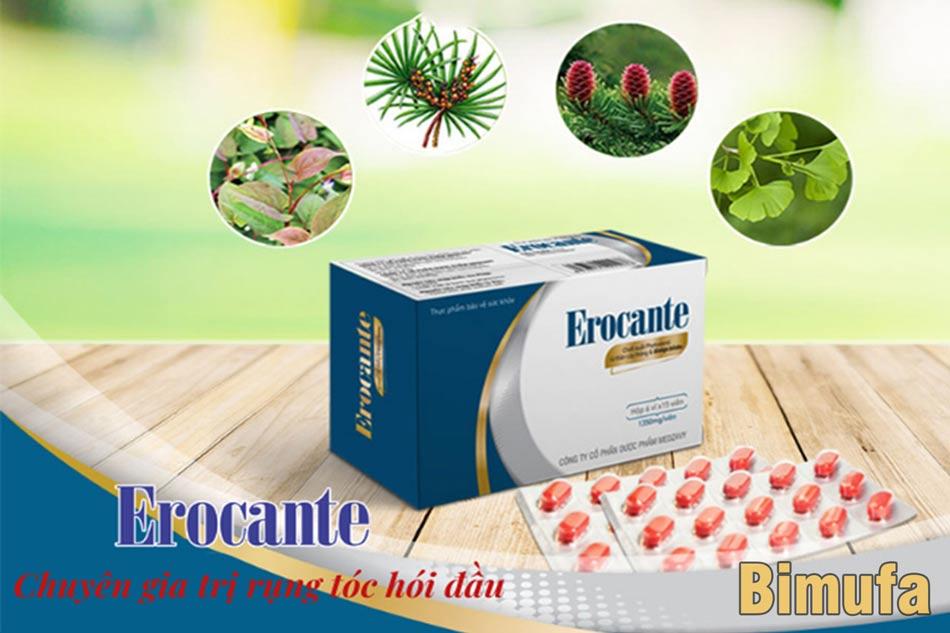 Thành phần của viên uống Erocante chiết suất từ tự nhiên