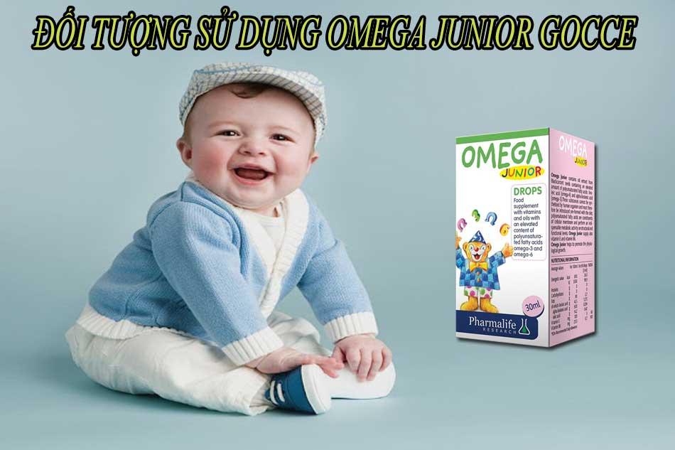 Đối tượng sử dụng Omega Junior Gocce