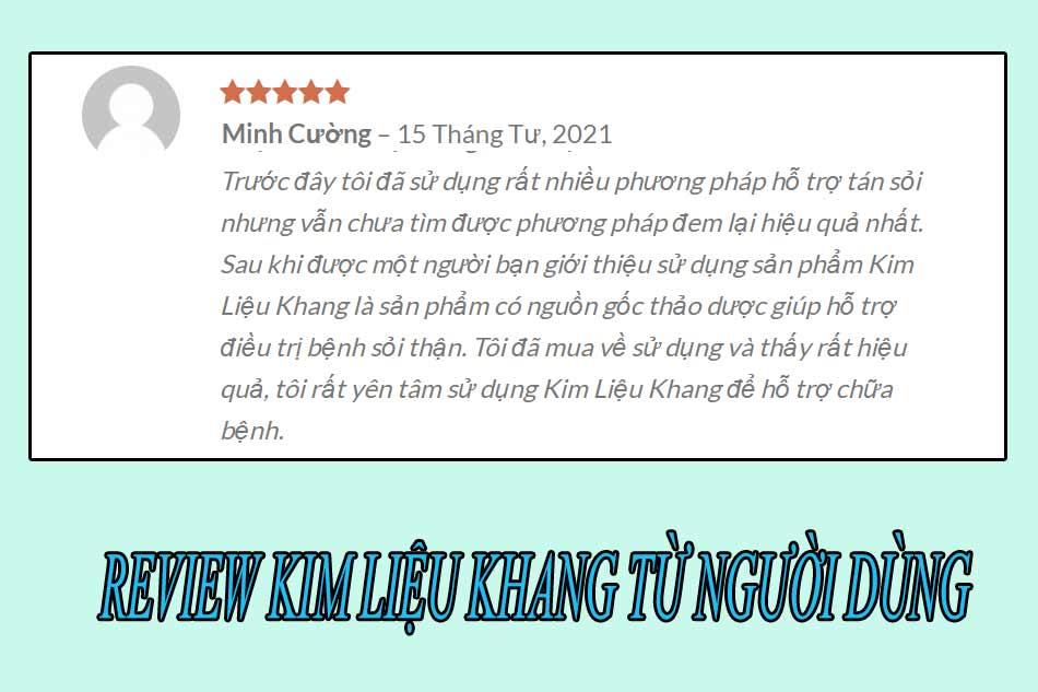 Review Kim Liệu Khang từ người dùng