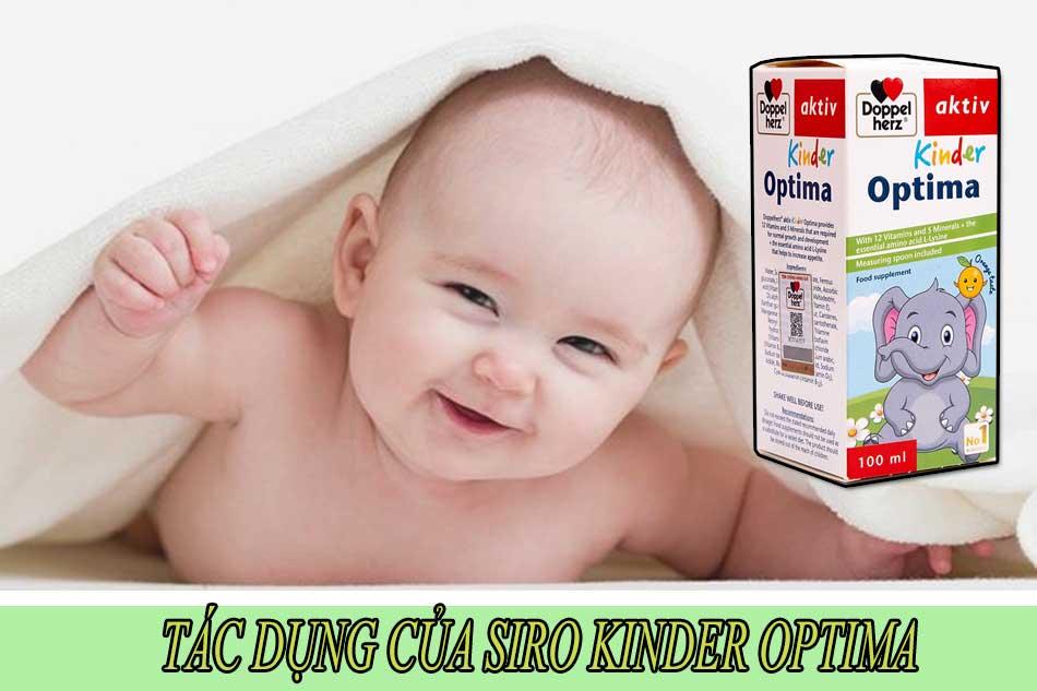 Tác dụng của siro Kinder Optima