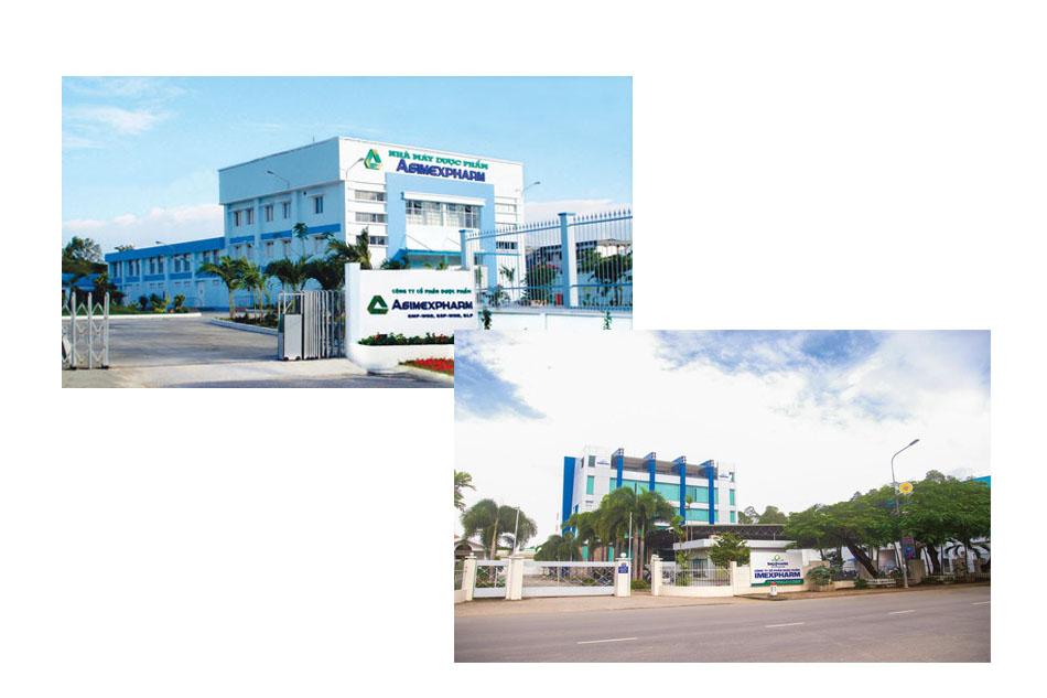 Các chi nhánh của Công ty Cổ Phần Dược Phẩm Imexpharm