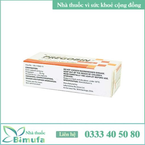 Thuốc Pregobin 75mg