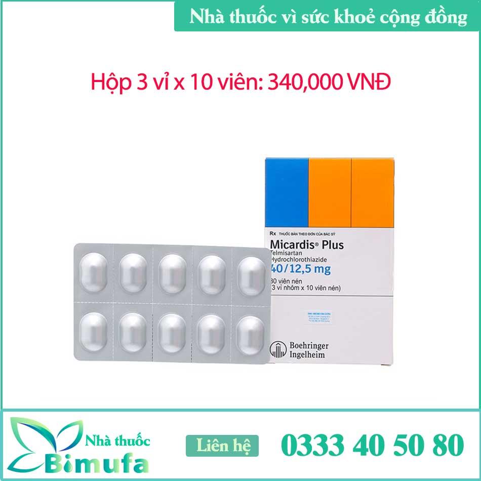 Thuốc Micardis Plus 40/12,5mg giá bao nhiêu