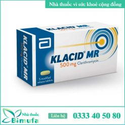 Hình ảnh thuốc klacid mr 500mg