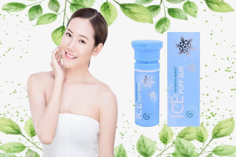 Review kem chống nắng Make - up Mát Lạnh Mersenne Beaute Ice Puff Sun SPF50+PA+++