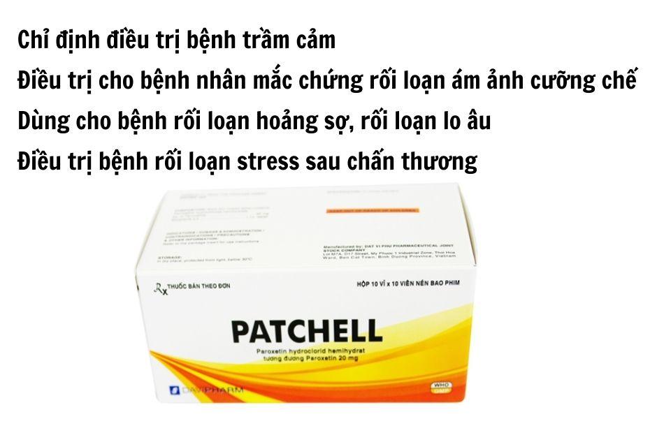 Chỉ định Patchell 20mg