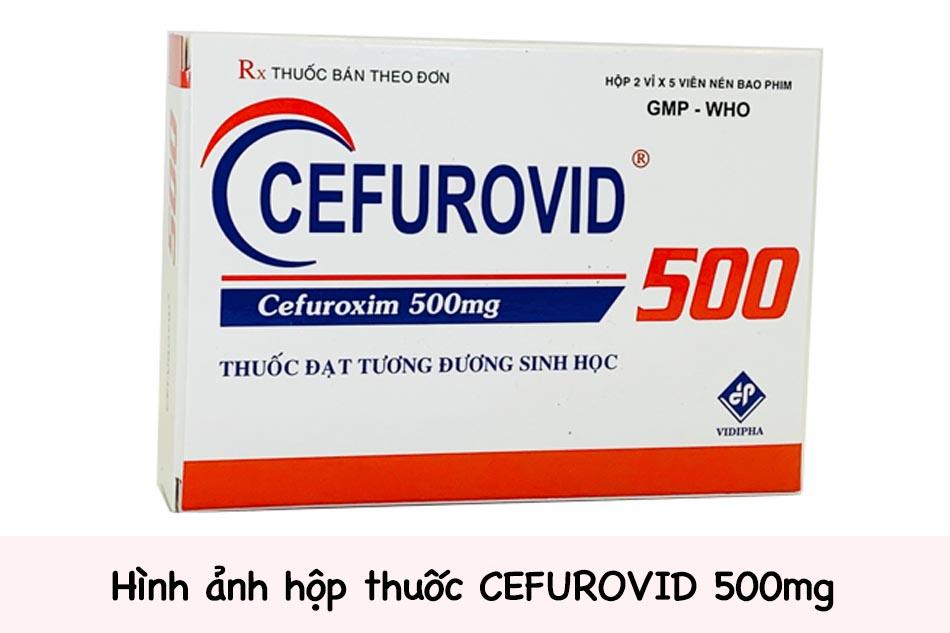 Hình ảnh hộp thuốc CEFUROVID 500mg
