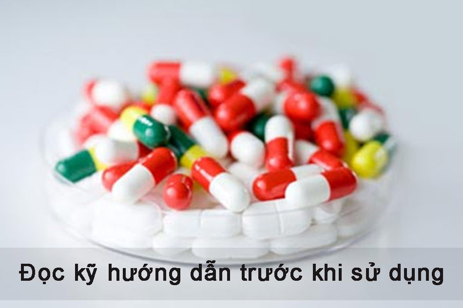 Đọc kỹ hướng dẫn sử dụng khi dùng thuốc