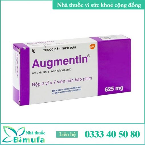 Hình ảnh thuốc Augmentin 625mg