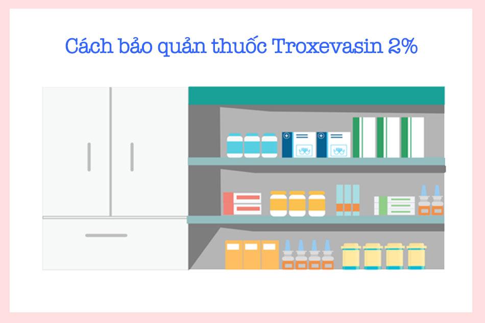 Bảo quản troxevasin 2% đúng cách