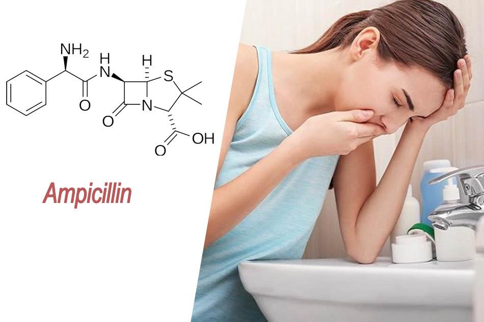 Ampicillin có thể gây rối loạn tiêu hóa