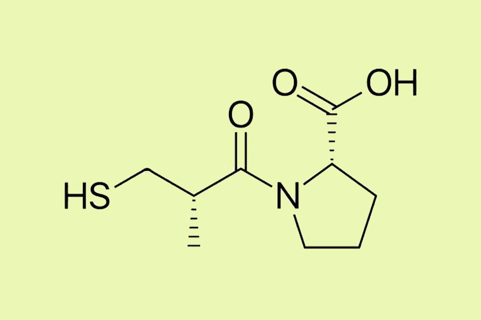 Cấu trúc hóa học của Captopril