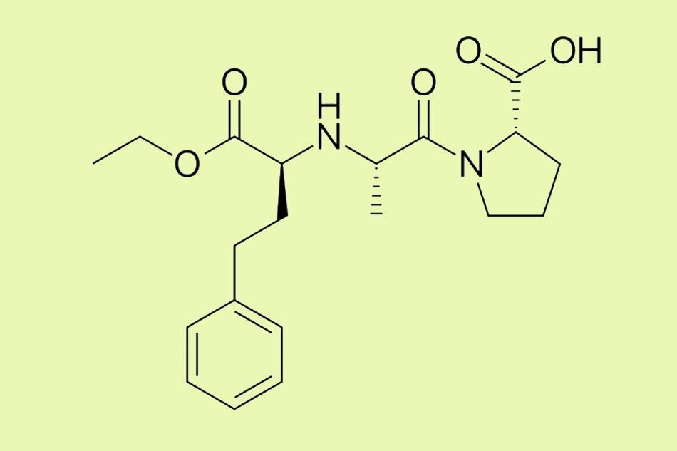 Cấu trúc hóa học của Enalapril