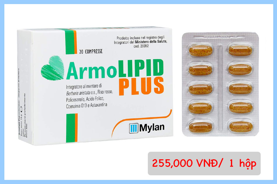 Giá bán 1 hộp viên uống Armolipid Plus
