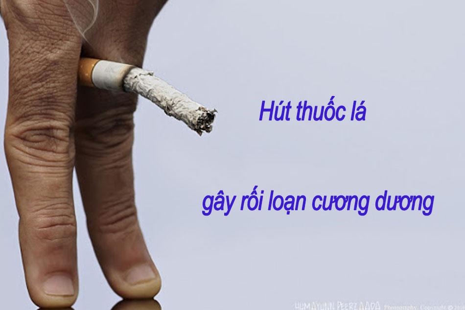 Hút thuốc lá có nguy cơ gây rối loạn cương dương
