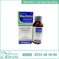 Bactirid 100mg/5ml dry suspension