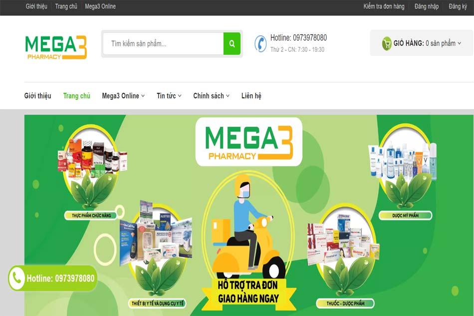 Nhà thuốc online Mega3