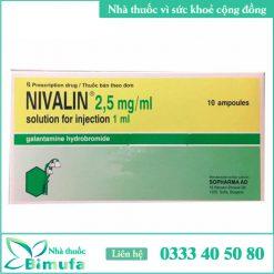 Hình ảnh thuốc Nivalin 2.5mg/ml